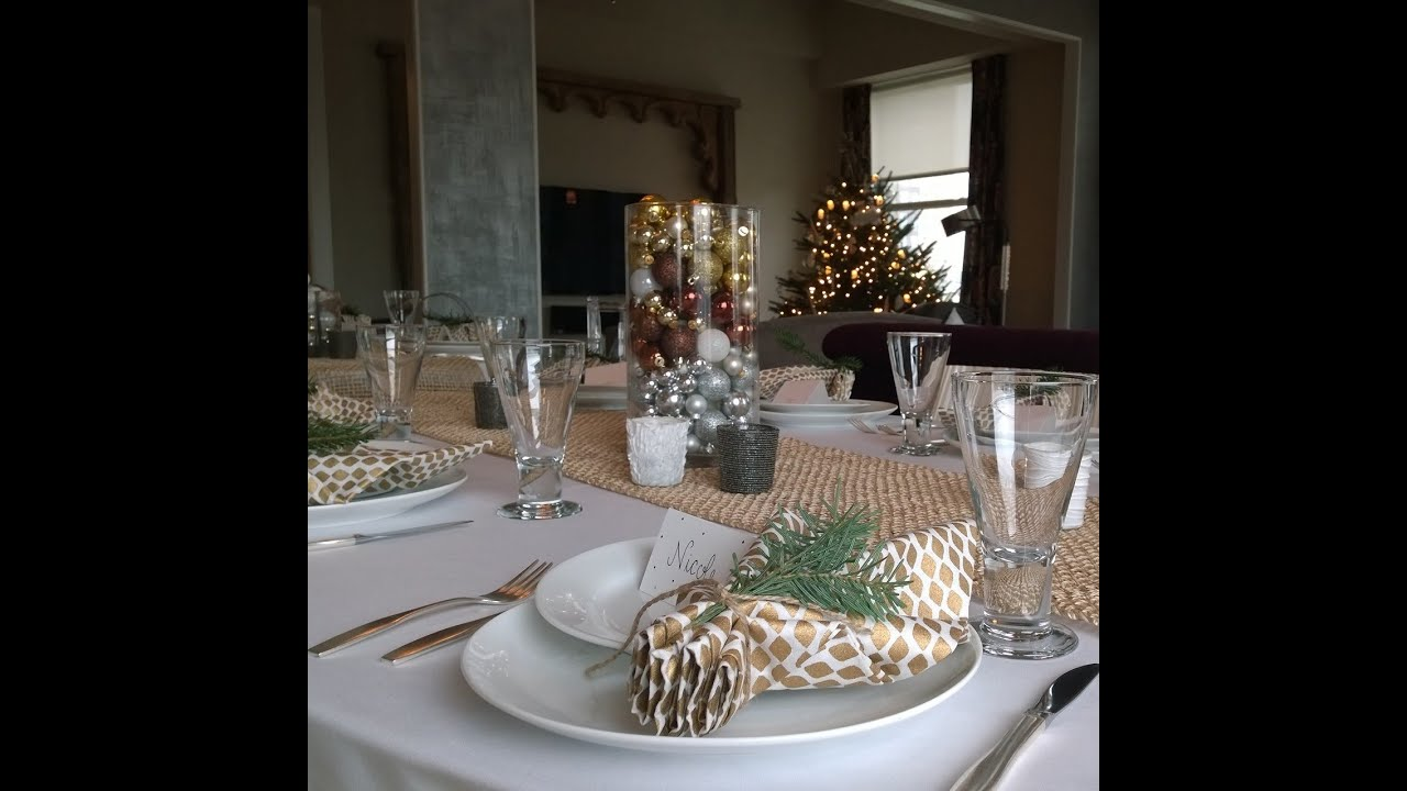 Setting a Holiday Table: White and Gold Tablescape - YouTube