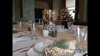 Setting a Holiday Table: White and Gold Tablescape Thumbnail