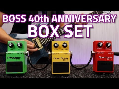 Boss BOX-40 40th Anniversary Compact Pedal Set - PH-1 Phaser, OD-1 Overdrive and SP-1 Spectrum