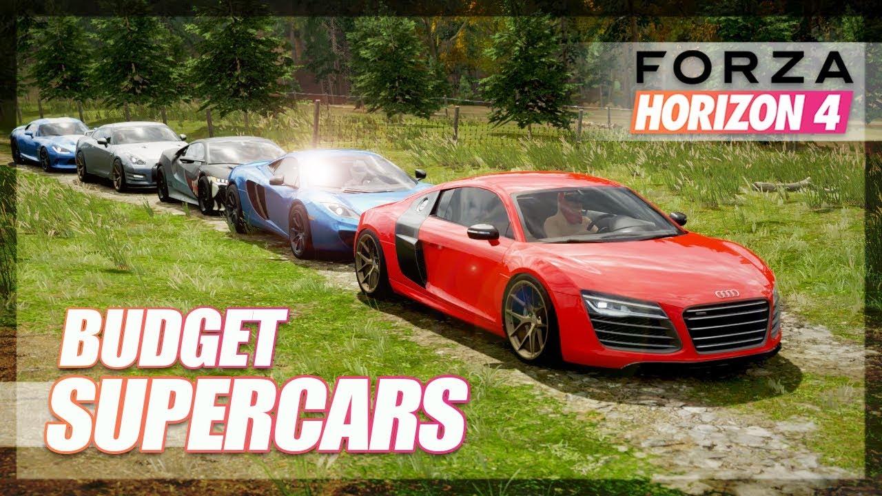 Forza Horizon 4 - BUDGET Supercars Challenge! thumbnail