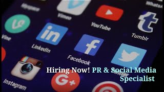 PR & Social Media Specialist