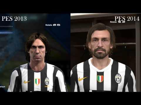 Pro Evolution Soccer 2013 - 2014 - Face Comparison