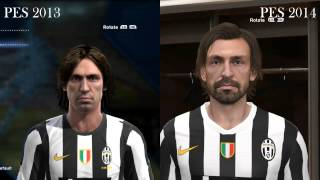 Pro Evolution Soccer 2013 - 2014 - Face Comparison