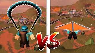 GLIDER VS PARACHUTE SPEED TEST! (Roblox Jailbreak)