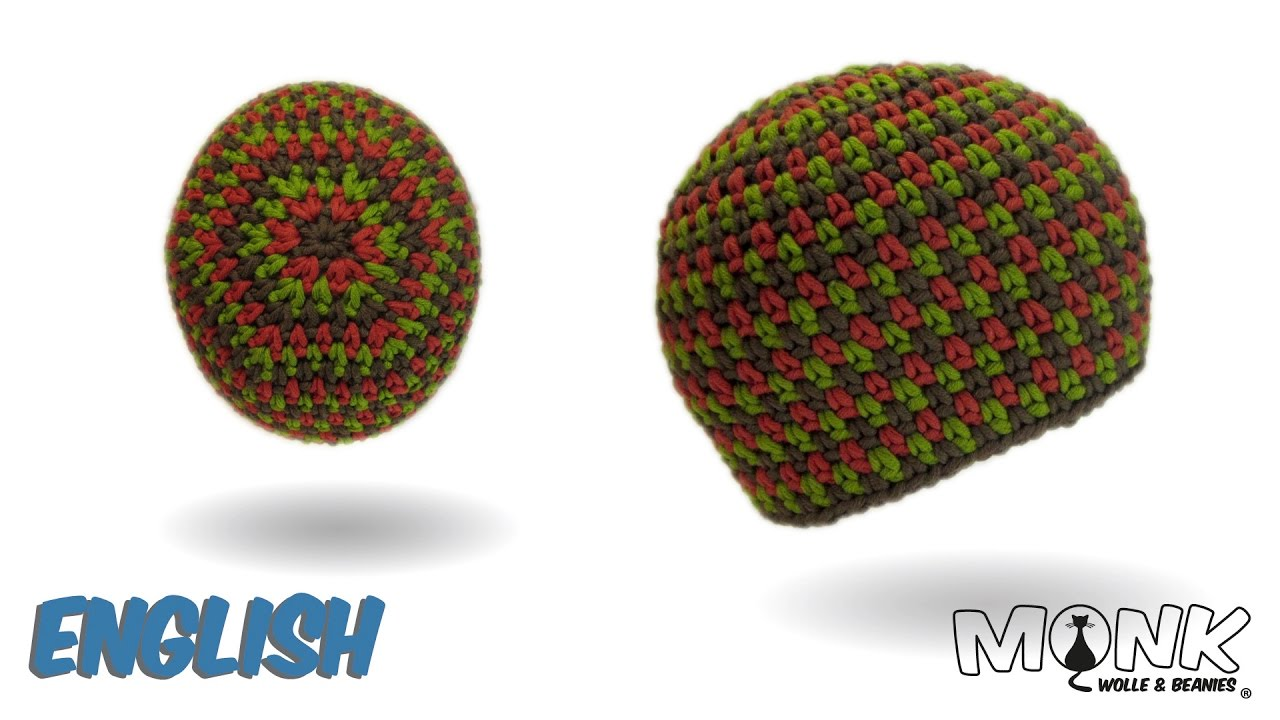 Crochet hat - Moss Stitch Beanie No. 2 - Tweed Style - YouTube 02d83a80d42