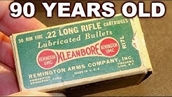 Opening depression-era .22LR ammo box-  surprisingly preserved