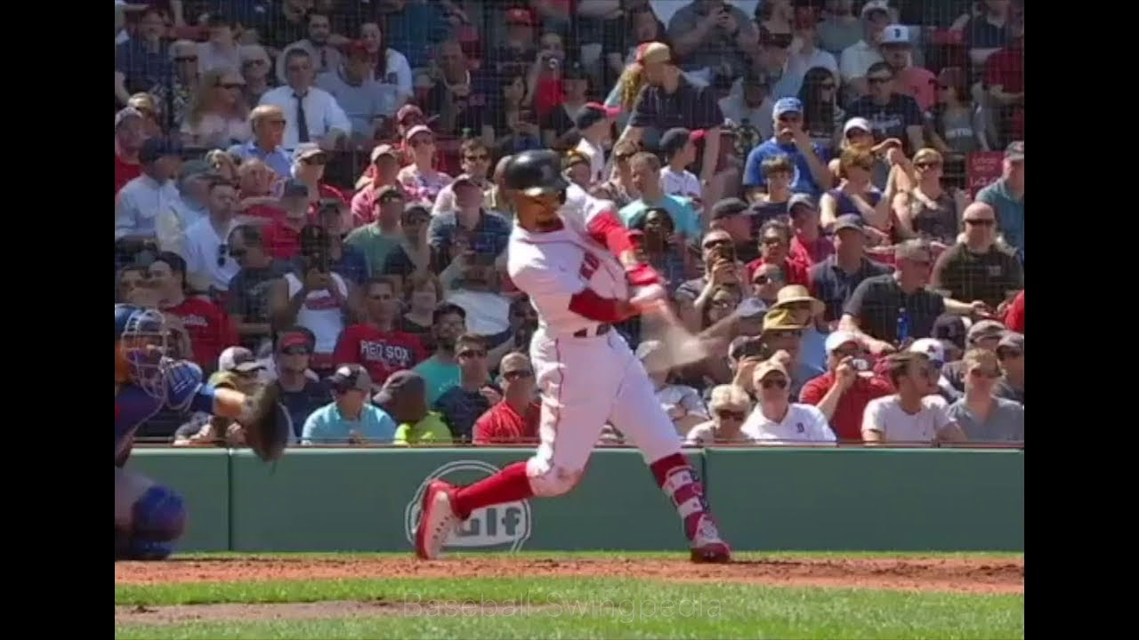 Mookie Betts Home Run Swing Slow Motion ...