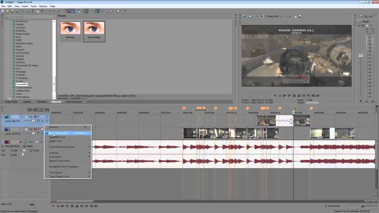 how to make a visualizer in sony vegas