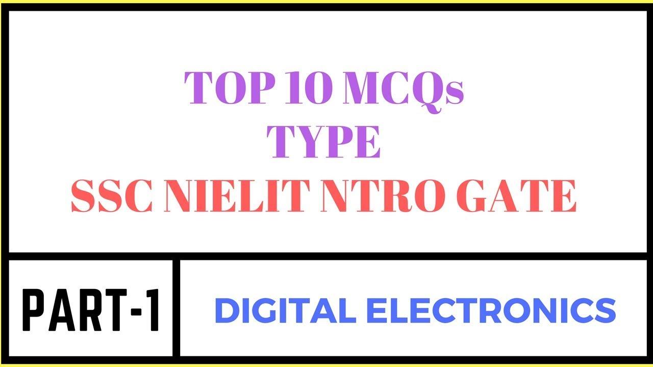 TOP 10 MCQs TYPE | DIGITAL ELECTRONICS | PART-1