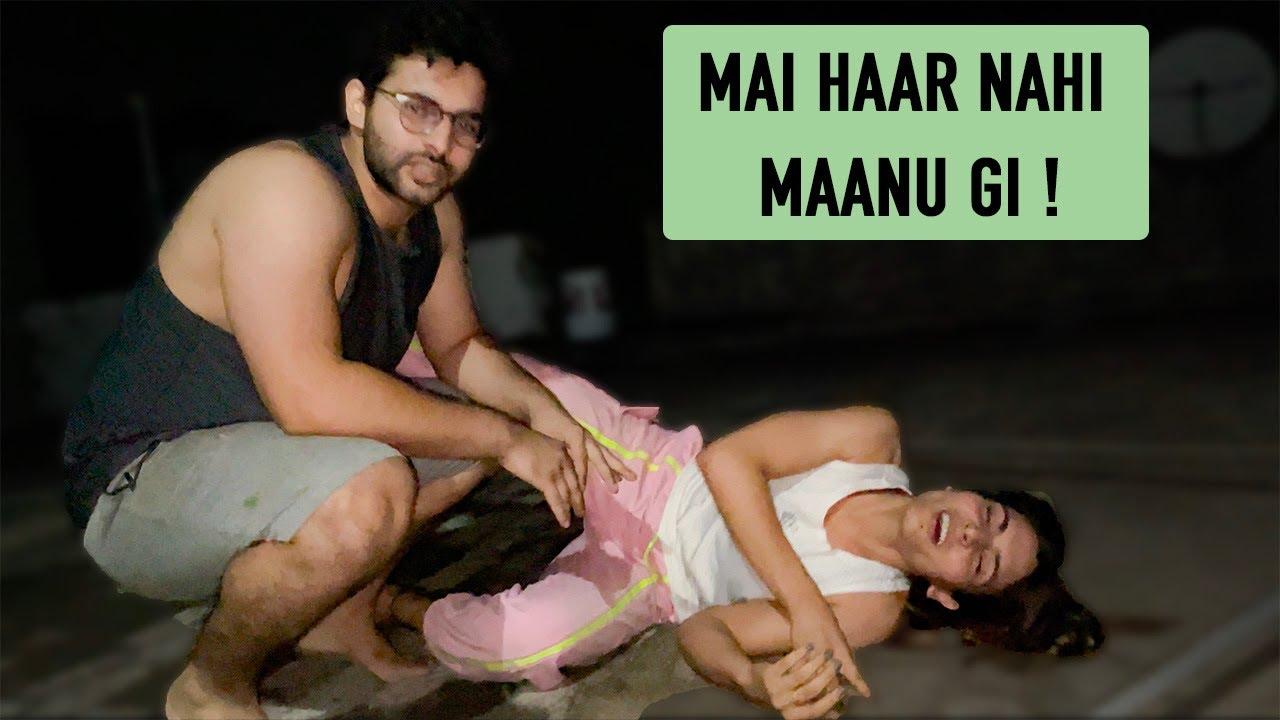 Pushup Challenge || Aditya V/s Mukti 💪🏻