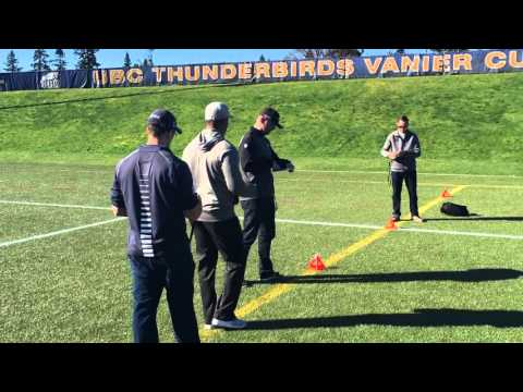 NFL scouts at UBC to scout Quinn van Gylswyk and Terrell Davis