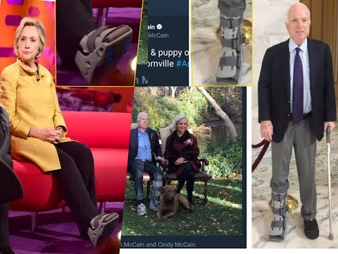 John McCain Weird Excuse for Switched Leg Injury Doesn't Add Up. Hillary's Boot Raises Questions
