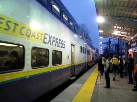 West Coast Express Train W3 Arriving at Port Moody - YouTube
