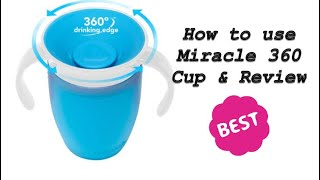 Munchkin 360 Sippy Cup Review and How to use?