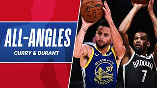 All-Angles: Stephen Curry \u0026 Kevin Durant's CLUTCH Threes In Their Respective Wins!