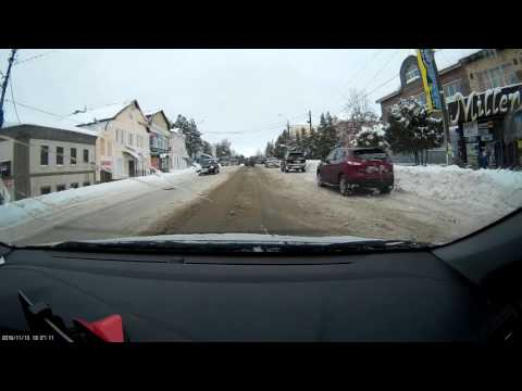 Driving to M9 Riga-Moscow through the streets of Rzhev