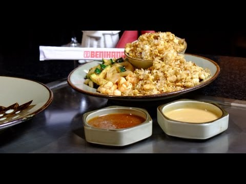 Benihanas Fried Rice Recipe  Get The Dish  POPSUGAR Food  YouTube