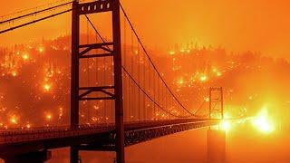 Огненный апокалипсис в США. Огонь подбирается к домам. Массовая эвакуация