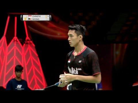 SCG Thailand Open 2017 | Badminton SF M1-MS | Jonatan Christie vs Soong Joo Ven