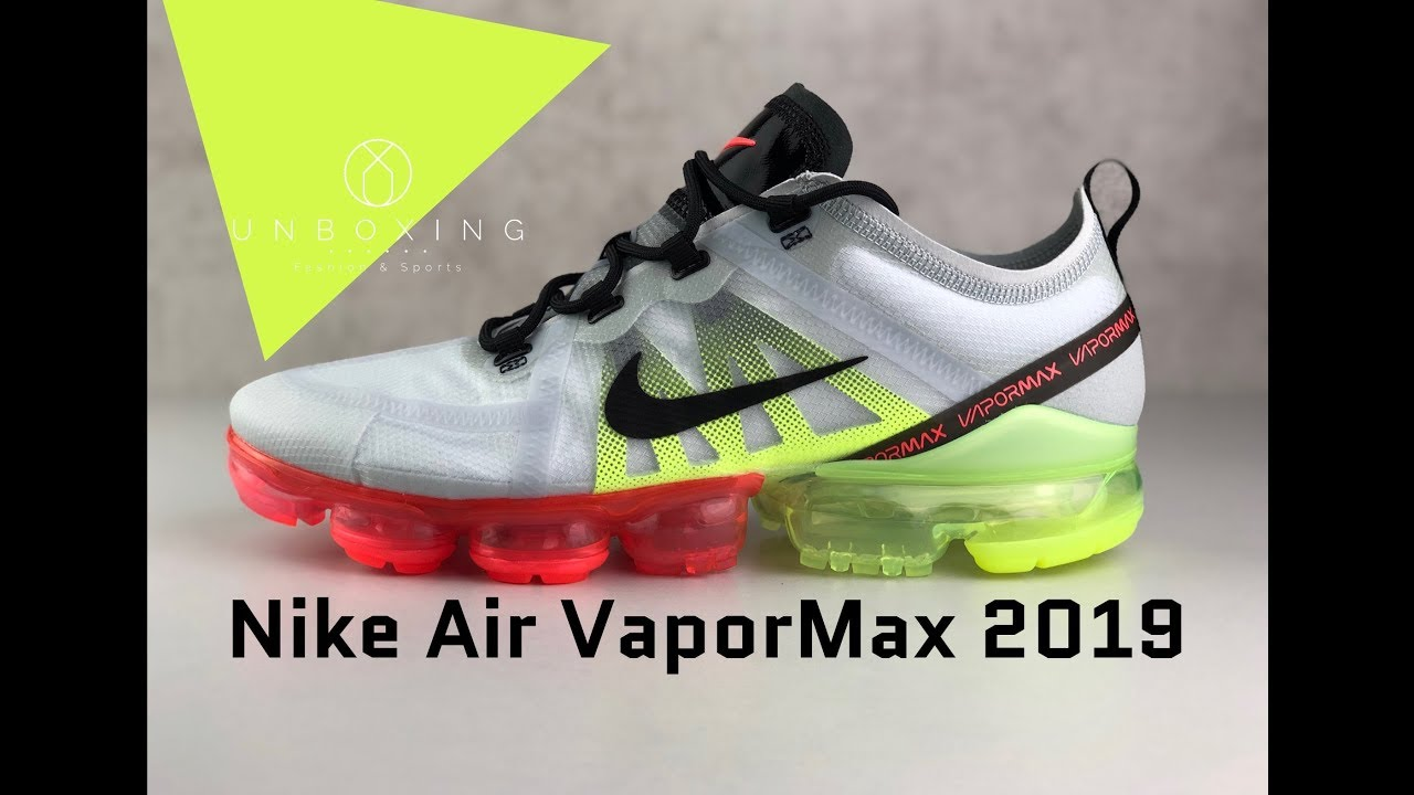 Responder cuerno desnudo  Nike Air Vapormax 2019 'Black-Volt' | UNBOXING & ON FEET | fashion shoes |  2019 - YouTube