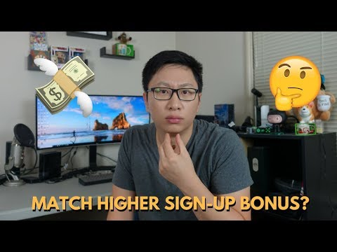 Which Banks Will Match a Better Sign-Up Bonus?