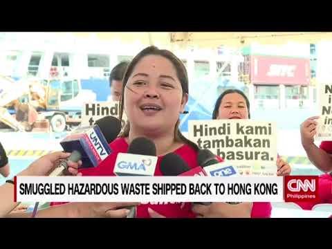 Smuggled hazardous waste shipped back to Hong Kong