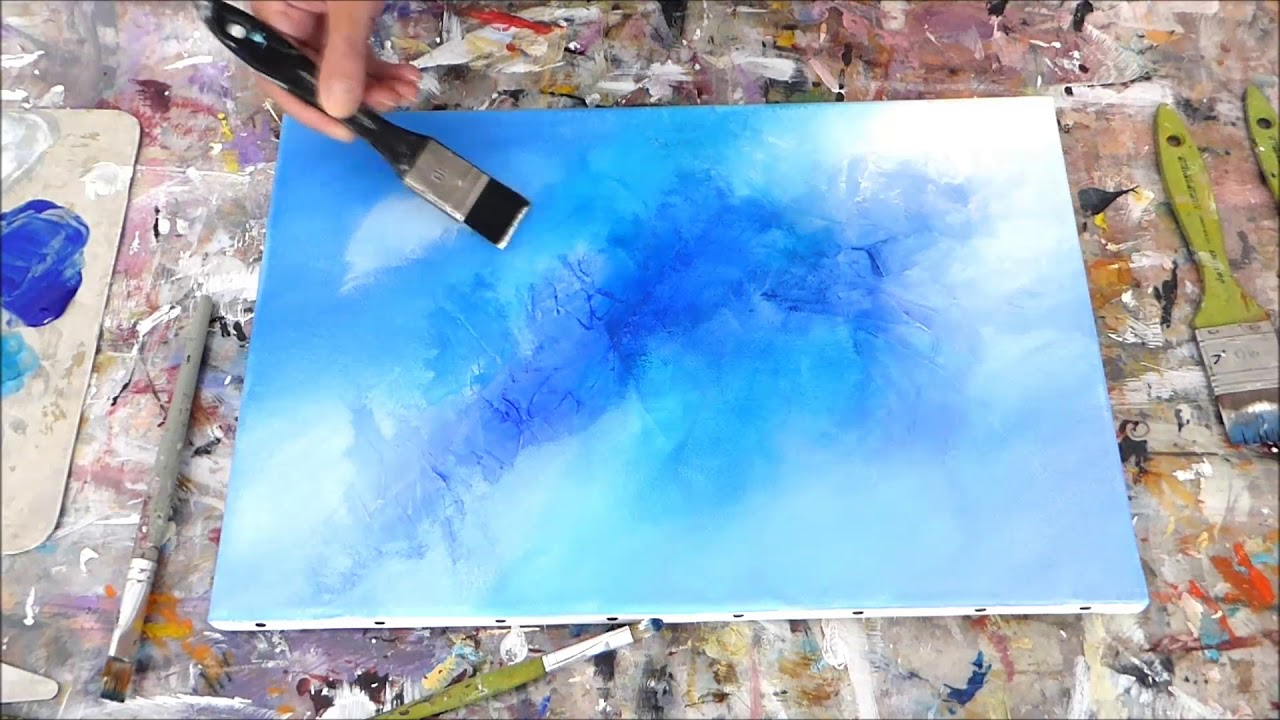 Abstract art painting peinture acrylique abstraite r aliser un fond althea bjart 39 s youtube - Realiser un tableau ...