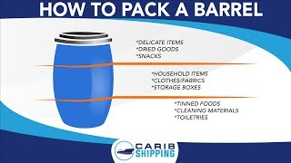 How to pack a barrel properly in layers