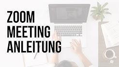Zoom Meeting Anleitung