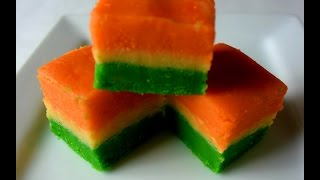 Easy Tri color barfi recipe(4 minutes)