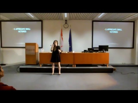 """How to be successful in what you do"" by Marsida Bandilli @College of Europe"