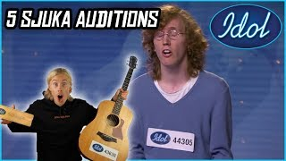 GORDON REAGERAR PÅ IDOL 2018 - 5 SJUKA AUDITIONS