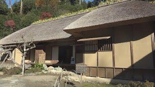 2015年12月5日 茨城県常陸太田市の西山荘の晩秋の風景です。徳川光圀の...