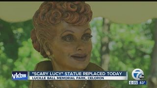 """Say goodbye to """"Scary Lucy"""" - new statue of Lucille Ball unveiled"""
