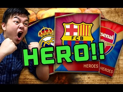 GREAT HERO PULLED!! 7 TEAM HEROES PACK OPENING!! FIFA MOBILE IOS / ANDROID