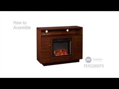 FE9320: Lancaster Media Electric Fireplace - Dark Tobacco/Espresso Assembly Video