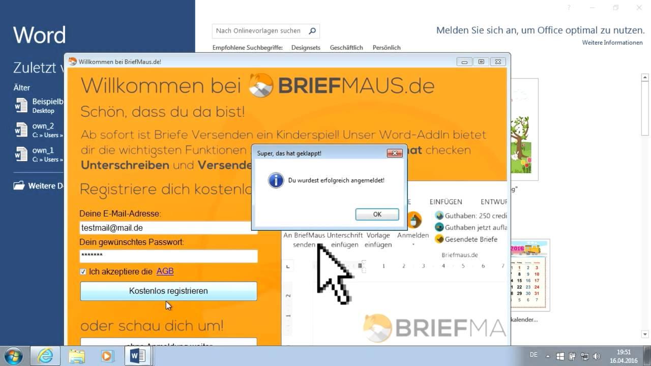 In 20 Sekunden Aus Word Briefe Verschicken Briefmaus Download