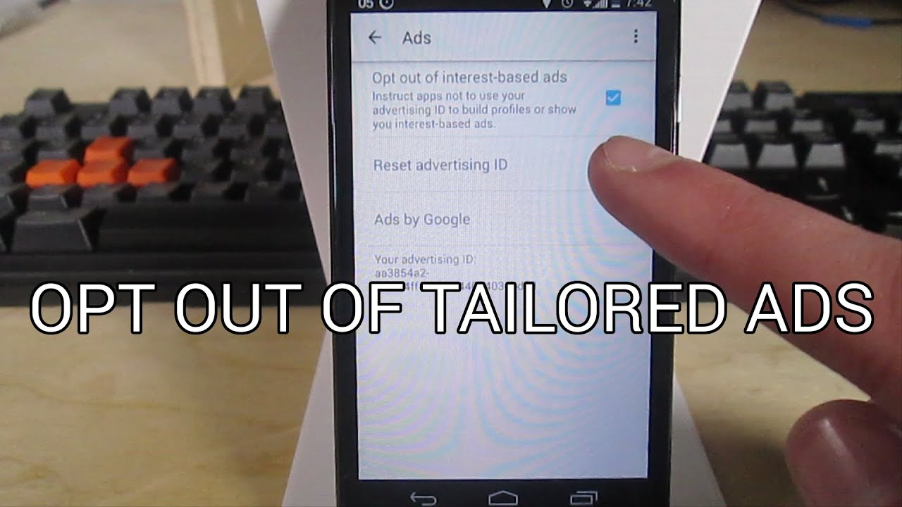 how to opt out of interest based ads on android youtube. Black Bedroom Furniture Sets. Home Design Ideas