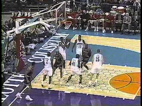 95/96 Chicago Bulls vs Charlotte Hornets (04.01.1996.)