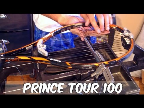 How To String A Prince Tennis Racquet The Easy Way Youtube