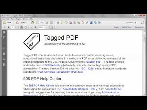 Tagged PDF |