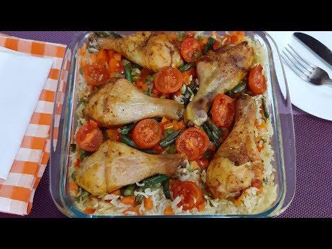 Ужин для тех, кому некогда долго готовить. Рис с курицей в духовке #быстрый_ужин #ужин_в_духовке