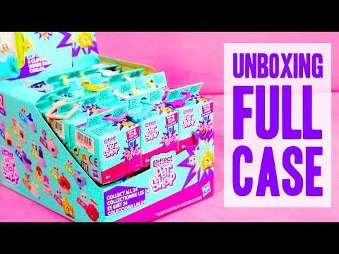 Unboxing FULL CASE of Littlest Pet Shop Series 2 Blind Bags!