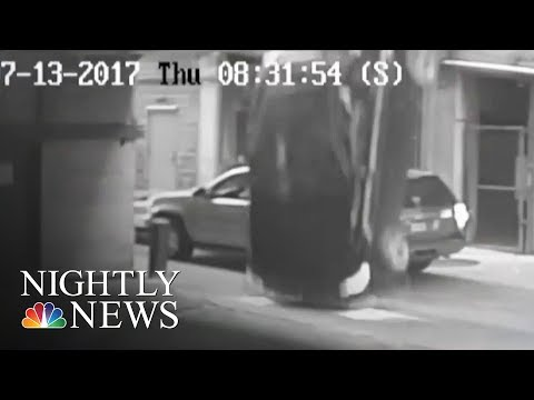 Parking Garage Plunge: Car Falls Seven Stories | NBC Nightly News