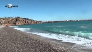 Konyaaltı Sahillerinde Kış Manzaraları Antalya Konyaalti coasts, Winter Scenes in Antalya