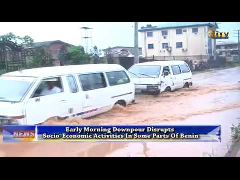 Early morning downpour disrupts socio-economic activities in parts of Benin