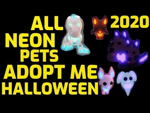 All Neon Pets Adopt Me Halloween 2020 Neon Cerberus Neon Skele Rex Neon Ghost Bunny Neon Bat Youtube
