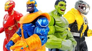 Халк, Залізний Людина Перетворити Поразку Танос & Лиходії~ Месники Іграшки Йдуть, Йдуть #Toymarvel