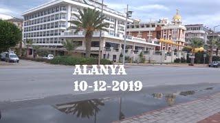 Аланья 10 декабря Прогулка по району Оба Погода Alanya