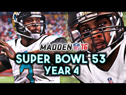 Madden 16 Jaguars Connected Franchise Year 4 - Super Bowl 53 vs Cardinals | Ep.85